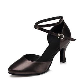 Women's Dance Shoes Modern Shoes / Ballroom Shoes / Line Dance Heel Customized Heel Customizable Black / Red / Gold / Indoor / EU41