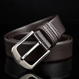 Men's Leather Waist Belt Buckle