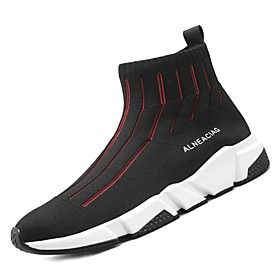 Trainers Athletic Shoes Comfort Shoes Athletic Walking Shoes Tulle Black / Red Black Spring Fall / EU40 Category:Trainers Athletic Shoes; Upper Materials:Tulle; Season:Fall,Spring; Range:EU40; Activity:Walking Shoes; Outsole Materials:PU (Polyurethane); Occasion:Athletic; Insole Materials:PU; Shipping Weight:0.56; Listing Date:01/22/2018; 2020 Trends:Comfort Shoes; Foot Length:; Size chart date source:Provided by Supplier.; Base Categories:Men's Shoes,Shoes,Apparel  Accessories