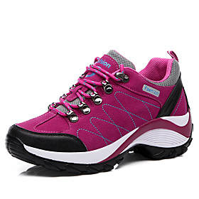 Women's Athletic Shoes Flat Heel Round Toe Faux Leather Casual / Preppy Hiking Shoes Spring  Summer Black / Purple / Light Pink