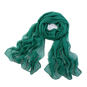 Women's Polyester / Chiffon Rectangle Scarf - Solid Colored Mesh