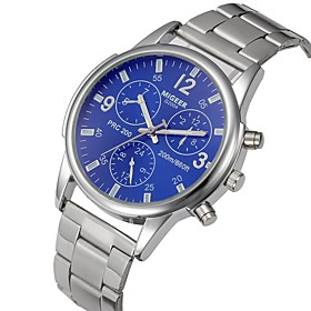 Men's Casual Chronograph Analog Black Silver LightBlue / One Year / Stainless Steel / Stainless Steel / SSUO LR626