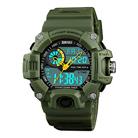 men's watches multi function military s-shock sports watch led digital waterproof alarm watches (small, black)