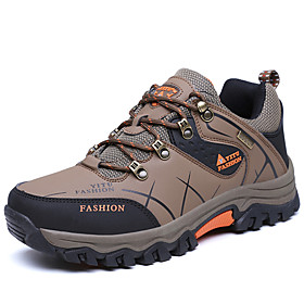 Men's Sneakers Hiking Shoes Hiking Boots Breathable Anti-Slip Comfortable Hiking Climbing Travel Spring Summer Brown Mineral Green Grey