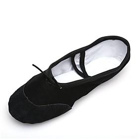 Men's Dance Shoes Canvas Ballet Shoes Splicing Sneaker / Full Sole Flat Heel Customizable Black / Indoor