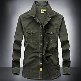 Men's Hunting Shirt Outdoor Anatomic Design Breathability Softness Wear Resistance Autumn / Fall Spring Summer Shirt Cotton Long Sleeve Camping / Hiking Huntin