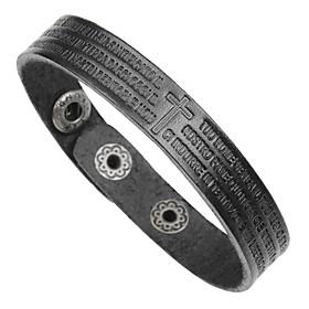 Men's Bracelet Bangles Leather Bracelet Bracelet Cross Classic Vintage Fashion Leather Bracelet Jewelry Black / Coffee / Brown For Formal Work