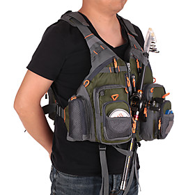 Men's Fishing Vest Pack Vest / Gilet Ergonomic Design Adjustable Flexible Fishing Camping Sports  Outdoor Fishing Hunting / Stretchy
