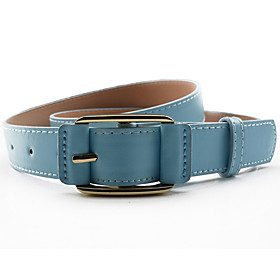 Women's Work Leather / Alloy Waist Belt - Solid Colored / All Seasons