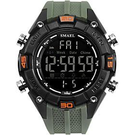 Men's Military Watch Digital Watch Casual Water Resistant / Waterproof Digital Black / Silver Blue Green / Two Years / Stainless Steel / Silicone / Japanese /