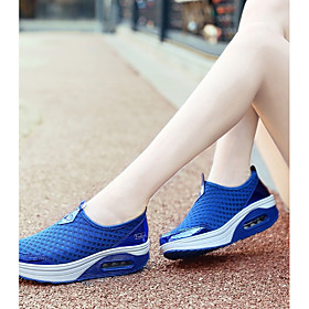 Women's Trainers / Athletic Shoes 2020 Spring  Summer Wedge Heel Round Toe Casual Athletic Outdoor Solid Colored Mesh Booties / Ankle Boots Tennis Shoes / Walk