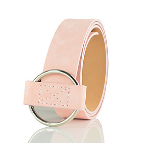 Women's Party Leather / Alloy Wide Belt - Solid Colored