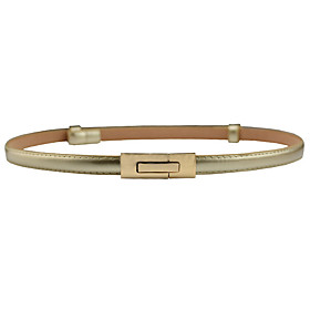 Women's Active / Street chic Leather / Alloy Skinny Belt