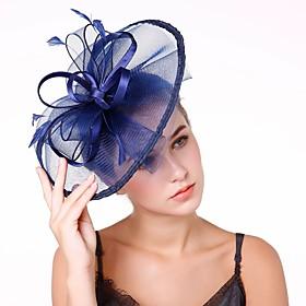 Women's Kentucky Derby Fashion Elegant Head Jewelry Hat Wedding Party - Solid Colored / All Seasons