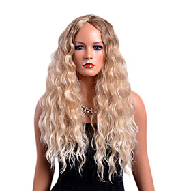 Synthetic Wig Curly Middle Part Wig Blonde Long Strawberry Blonde / Light Blonde Synthetic Hair Women's Fashionable Design Party Blonde