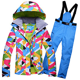 ARCTIC QUEEN Women's Ski Jacket with Pants Ski / Snowboard Winter Sports Thermal / Warm Waterproof Windproof Polyester Clothing Suit Ski We