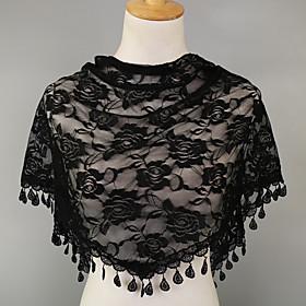 Women's Chiffon Triangle Scarf - Print Lace / Mesh / Cute / Fabric / Hair Scarf
