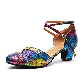 Women's Modern Shoes / Ballroom Shoes Patent Leather Heel Sequin Thick Heel Dance Shoes Rainbow / Practice / EU40 Category:Ballroom Shoes,Modern Shoes; Upper Materials:Patent Leather; Embellishment:Sequin; Lining Material:Synthetic; Heel Type:Thick Heel; Gender:Women's; Range:EU40; Style:Heel; Outsole Materials:Patent Leather; Occasion:Practice; Brand:Shall We; Listing Date:06/26/2018; Production mode:Self-produce; Foot Length:; Size chart date source:Provided by Supplier.