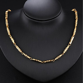 Men's Chain Necklace Baht Chain Fashion Dubai 18K Gold Plated Gold Plated Gold 51 cm Necklace Jewelry 1pc For Party / Evening Daily