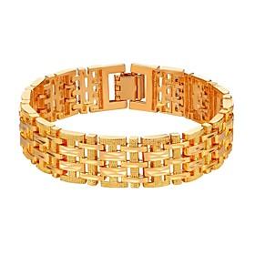 Men's Chain Bracelet Bracelet Bangles Curb Link Bracelet Link / Chain Simple Classic Fashion Copper Bracelet Jewelry Gold / Silver For Party Gift Daily