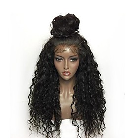 Synthetic Lace Front Wig Curly Layered Haircut Lace Front Wig Long Natural Black Synthetic Hair Women's Natural Hairline Black