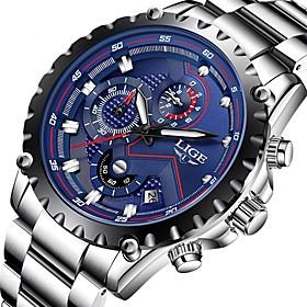 Men's Dress Watch Aviation Watch Quartz Luxury Water Resistant / Waterproof Analog Blue / Black Black Black / White / Two Years / Stainless Steel / Japanese /