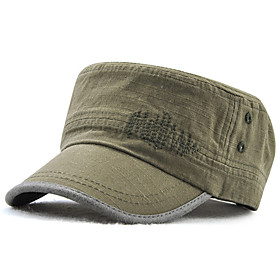 Men's Work Basic Cotton Polyester Military Hat-Solid Colored All Seasons Blue Black Army Green