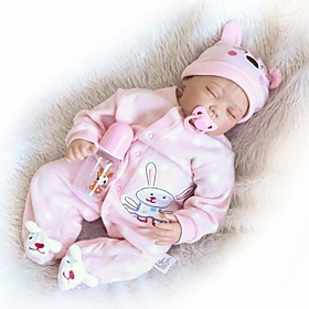 NPKCOLLECTION 24 inch NPK DOLL Reborn Doll Girl Doll Baby Girl Reborn Toddler Doll Newborn lifelike Gift Child Safe Non Toxic Cloth 3/4 Sil
