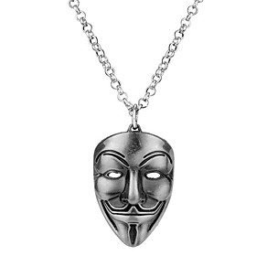Men's Pendant Necklace Sculpture Stylish Trendy Silver Plated Gold Plated Alloy Bronze Dark Gray Gold 45 cm Necklace Jewelry 1pc For Halloween Masquerade