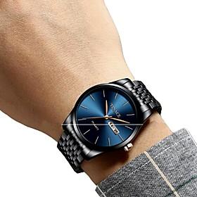 Men's Dress Watch Wrist Watch Quartz Luxury Water Resistant / Waterproof Analog Blue / Black Black / Blue Gold / Silver / White / One Year / Stainless Steel /