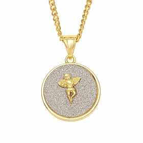 Men's Chain Necklace Charm Necklace Cuban Link Angel Wings European Trendy Hip-Hop Alloy Gold Silver 60 cm Necklace Jewelry 1pc For Street Festival