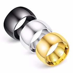 Men's Band Ring 1pc Gold Black Silver Titanium Steel Round Geometric Stylish Simple Classic Wedding Daily Jewelry Classic Creative Cool