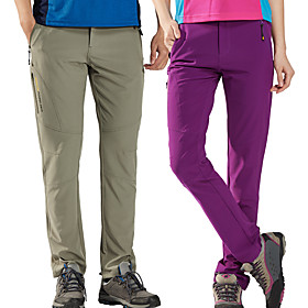 Women's Hiking Pants Solid Color Summer Outdoor Lightweight Sunscreen UV Resistant Breathable Spandex Pants / Trousers Bottoms Violet Navy Black Khaki Camping
