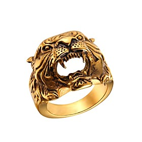 Ring Hollow Gold Silver Stainless Steel Skull Fashion 1pc 7 8 9 10 11 / Men's