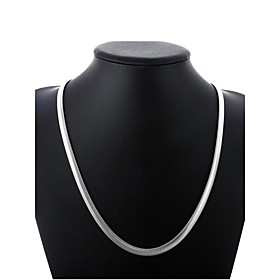 Men's Chain Necklace Thick Chain Single Strand Simple Basic Fashion Copper Silver Plated Silver 50 cm Necklace Jewelry 1pc For Daily Street