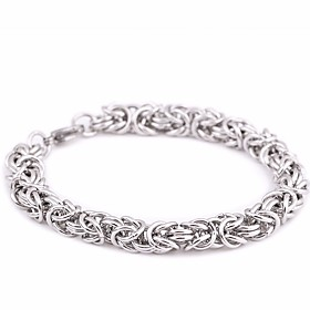 Men's Loom Bracelet Link Bracelet Vintage Style Thick Chain Creative Stylish Classic Vintage Titanium Steel Bracelet Jewelry Silver For Street Going out / Stee