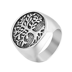 Men's Band Ring Signet Ring 1pc Silver Stainless Steel Punk Trendy Hip-Hop Daily Street Jewelry Sculpture Cool