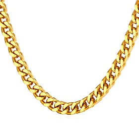 Men's Necklace Thick Chain Mariner Chain Fashion Stainless Steel Gold Silver 55 cm Necklace Jewelry 1pc For Gift Daily