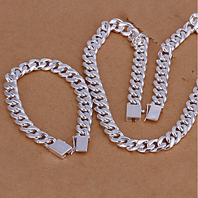 Men's Necklace Stylish Box Chain Creative Ladies Fashion Elegant S925 Sterling Silver Earrings Jewelry Silver For Gift Daily