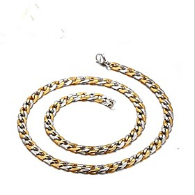 Men's Necklace Stylish Foxtail chain Mariner Chain Creative Fashion Titanium Steel Gold Silver 50 cm Necklace Jewelry 1pc For Gift Daily