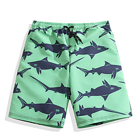 Men's Swim Shorts Swim Trunks Board Shorts Bottoms Quick Dry Drawstring - Surfing Beach Watersports Animal Summer