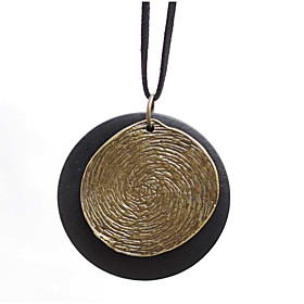 Women's Pendant Necklace Long Necklace Vintage Style Stylish faceter Creative Stylish Unique Design Vintage Hammered Cord Stone Alloy Black 80 cm Necklace Jewe