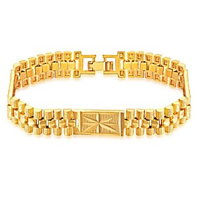 Men's Bracelet Stylish Creative Fashion Copper Bracelet Jewelry Gold For Party Daily