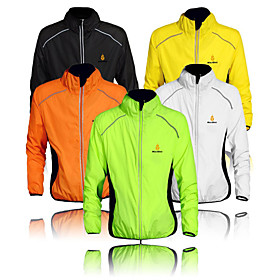 WOLFBIKE Men's Cycling Jacket Bike Windbreaker Top Windproof Quick Dry Ultraviolet Resistant Sports Polyester Orange / Yellow / Green Mountain Bike M
