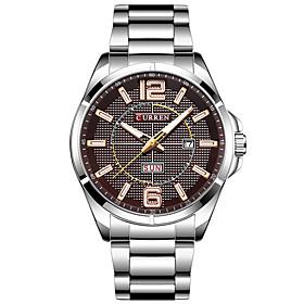 Men's Sport Watch Quartz Minimalist Water Resistant / Waterproof Analog Blue / Black Black Silver / Two Years / Stainless Steel / Japanese / Calendar / date /