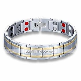 Men's Chain Bracelet Hologram Bracelet Vintage Style Classic Two tone Creative Simple Unique Design Vintage equilibrio Steel Stainless Bracelet Jewelry Silver