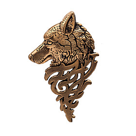 Men's Brooches Hollow Wolf Head Ladies Classic Vintage Brooch Jewelry Bronze Gold Silver For Evening Party Formal Work