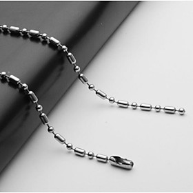 Men's Chain Necklace Single Strand Ball Mariner Chain European Stainless Steel Silver 55 cm Necklace Jewelry 1pc For Daily