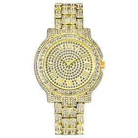 Men's Dress Watch Wrist Watch Quartz Luxury Chronograph Analog Gold Silver / One Year / Stainless Steel / Luminous