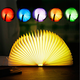 Book Light Desktop Night Lamp Staycation Table Lamp RGB DC 5V Blue Golden Red Yellow Brown 1 pc